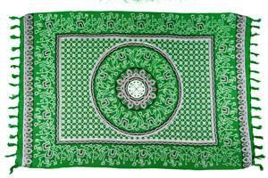Canga Mandala com Elefantes Verde
