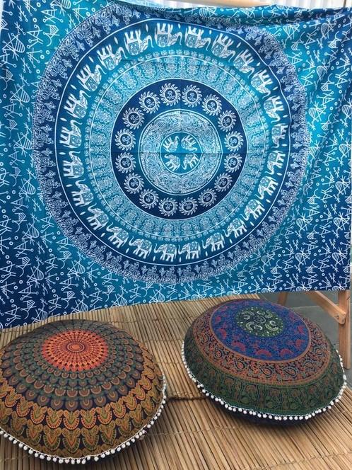 Bed Cover Casal Mandala Elefante Azul