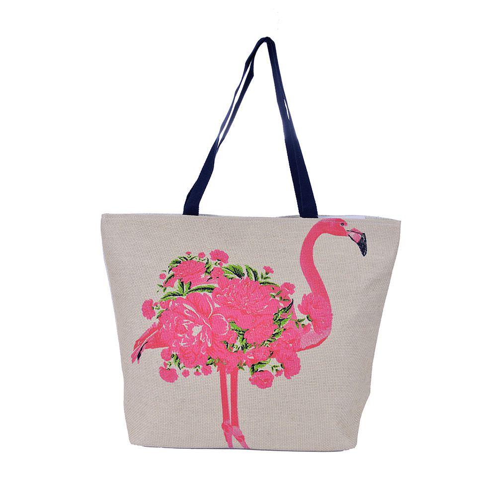 Bolsa de praia Don Flamingo Rosa