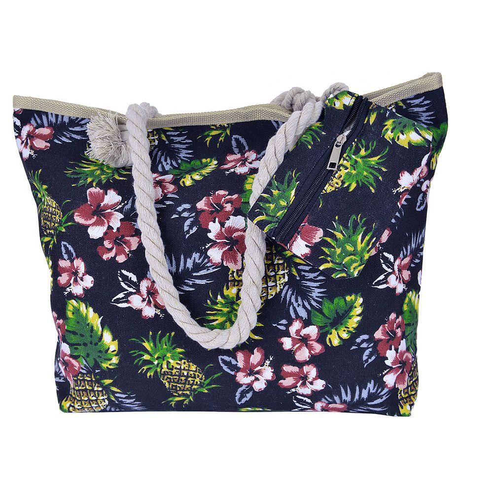 Bolsa de praia Flores e Abacaxi