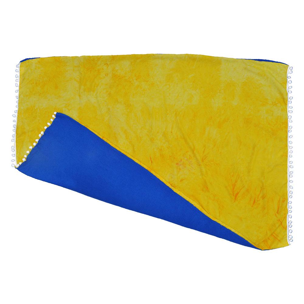 Canga atoalhada Tie Dye Amarelo