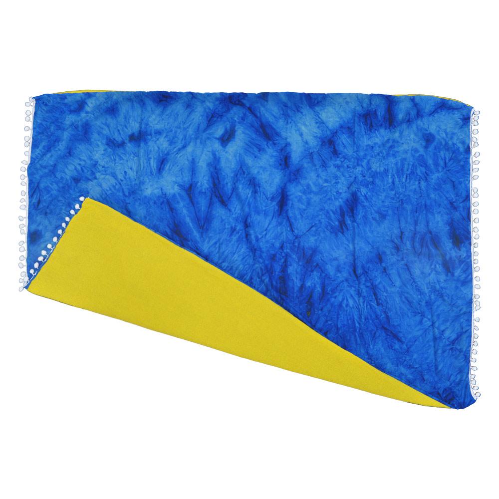 Canga atoalhada Tie Dye Azul
