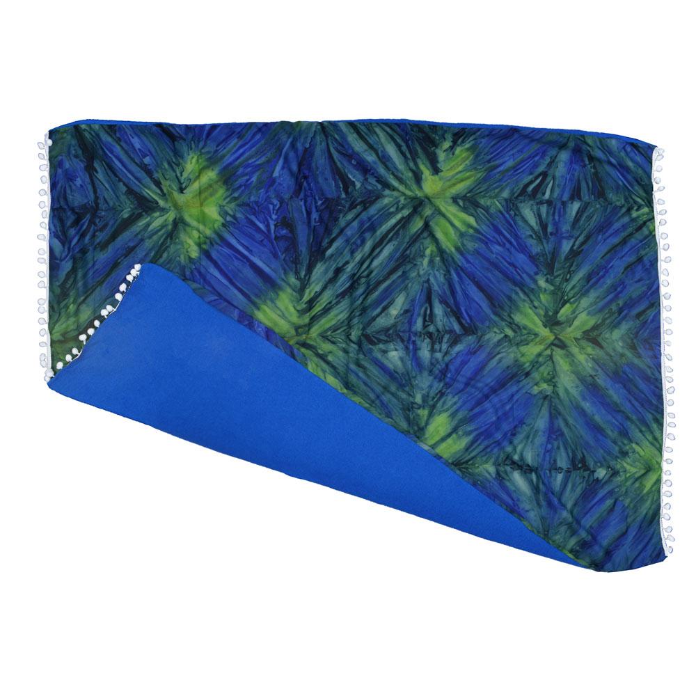 Canga atoalhada Tie Dye Verde e Azul