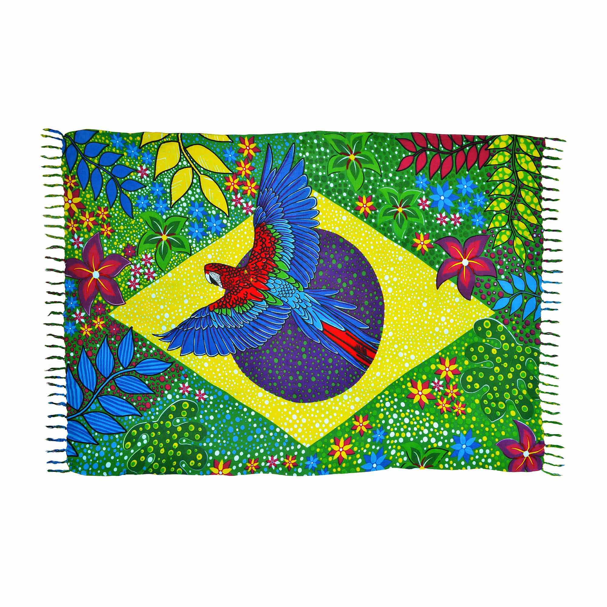 Canga Bandeira do Brasil Flower