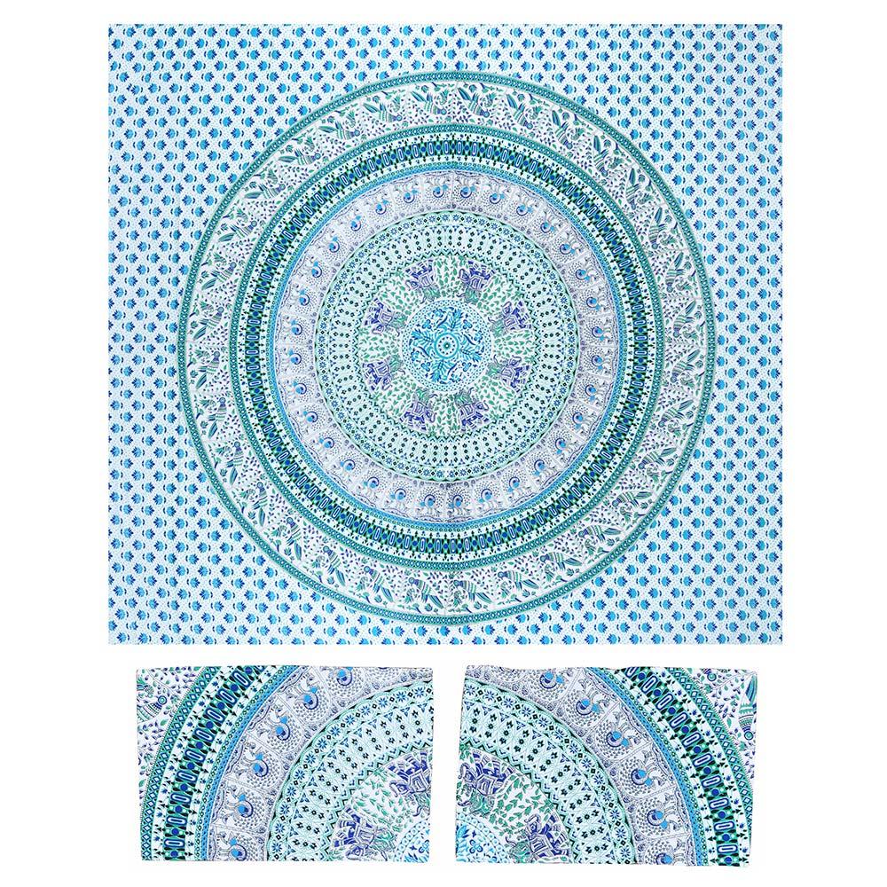 Canga Casal Com Capa de Almofada Mandala Central