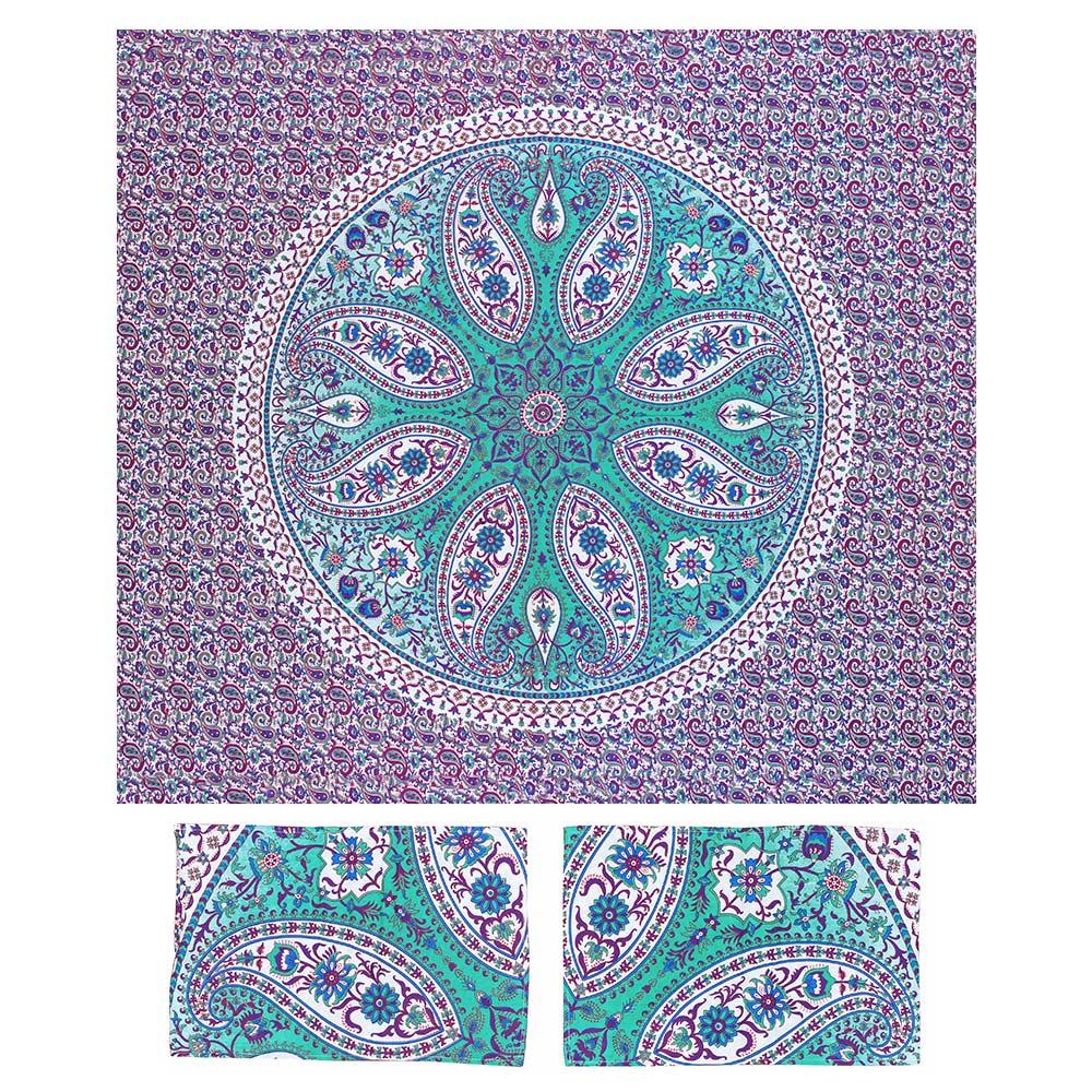 Canga Casal Com Capa de Almofada Mandala Flora