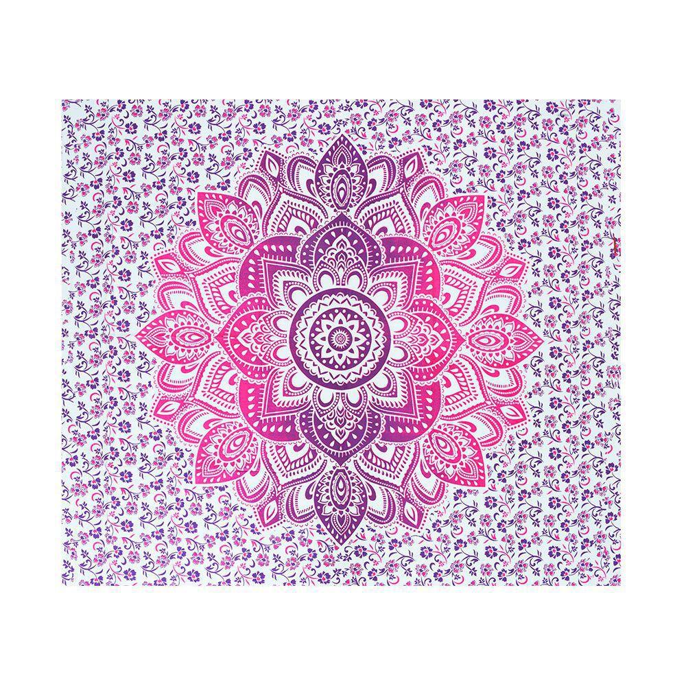 Canga Casal Com Capa de Almofada Mandala Flower