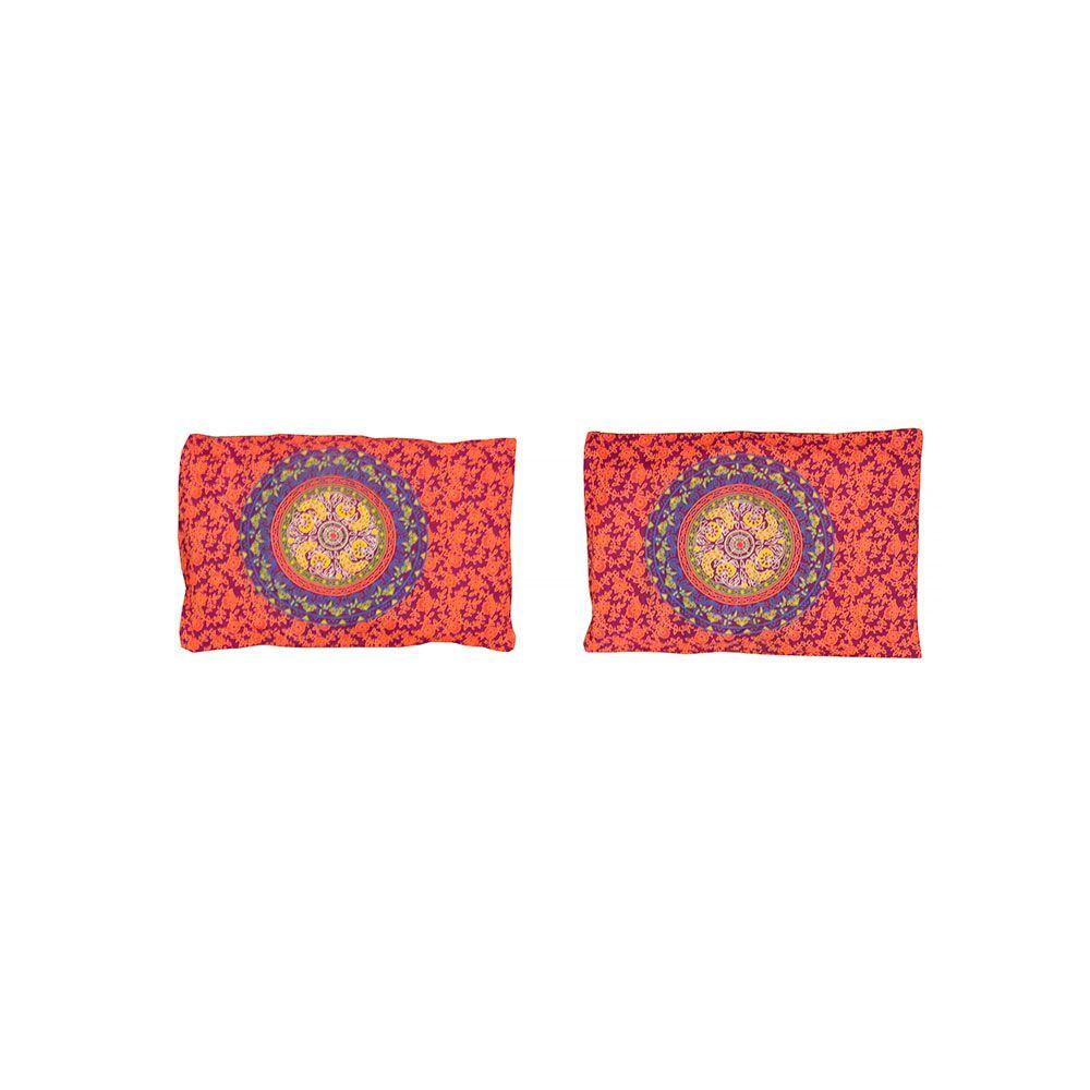 Canga Casal Com Capa de Almofada Mandala Multi Círculos