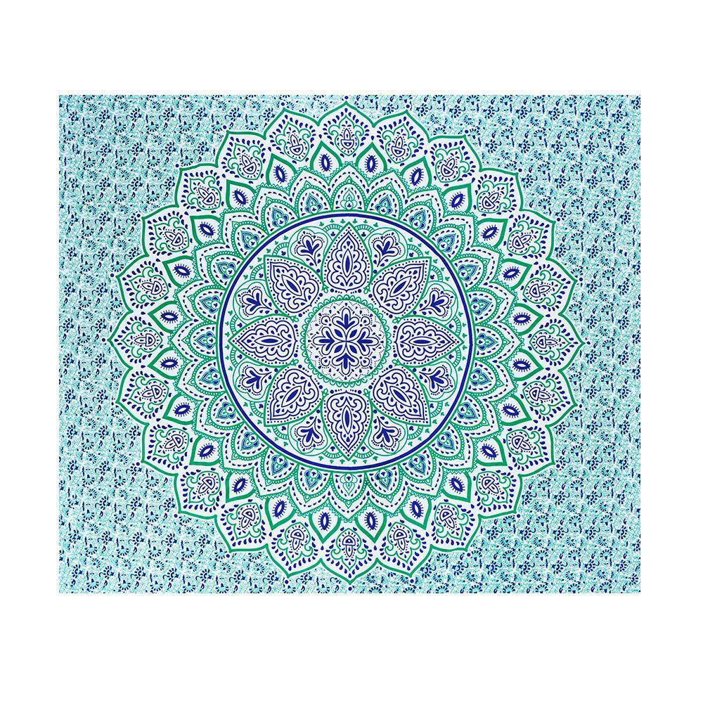 Canga Casal Com Capa de Almofada Mandala Sol