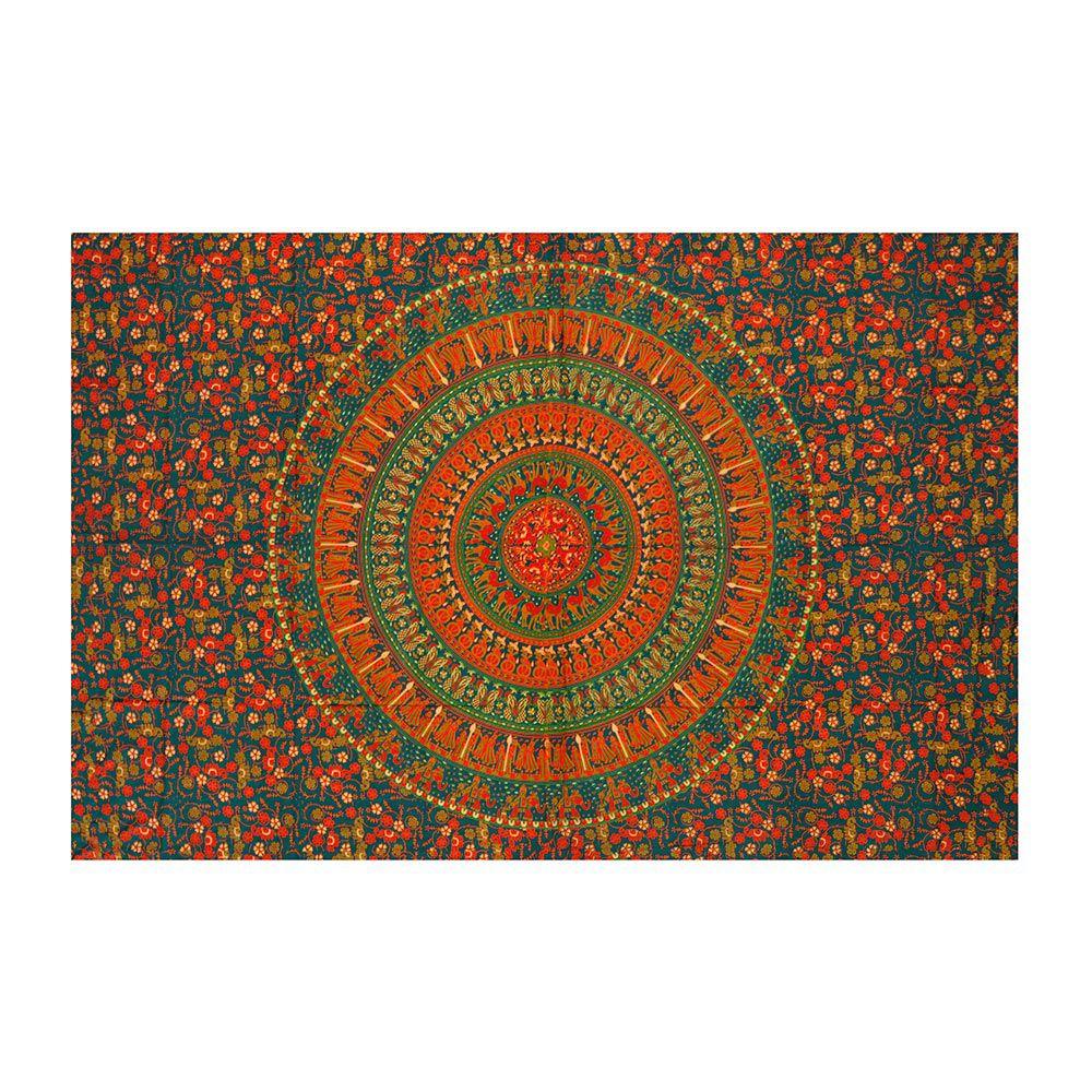 Canga Casal Pequena Com Capa de Almofada Mandala Indiana