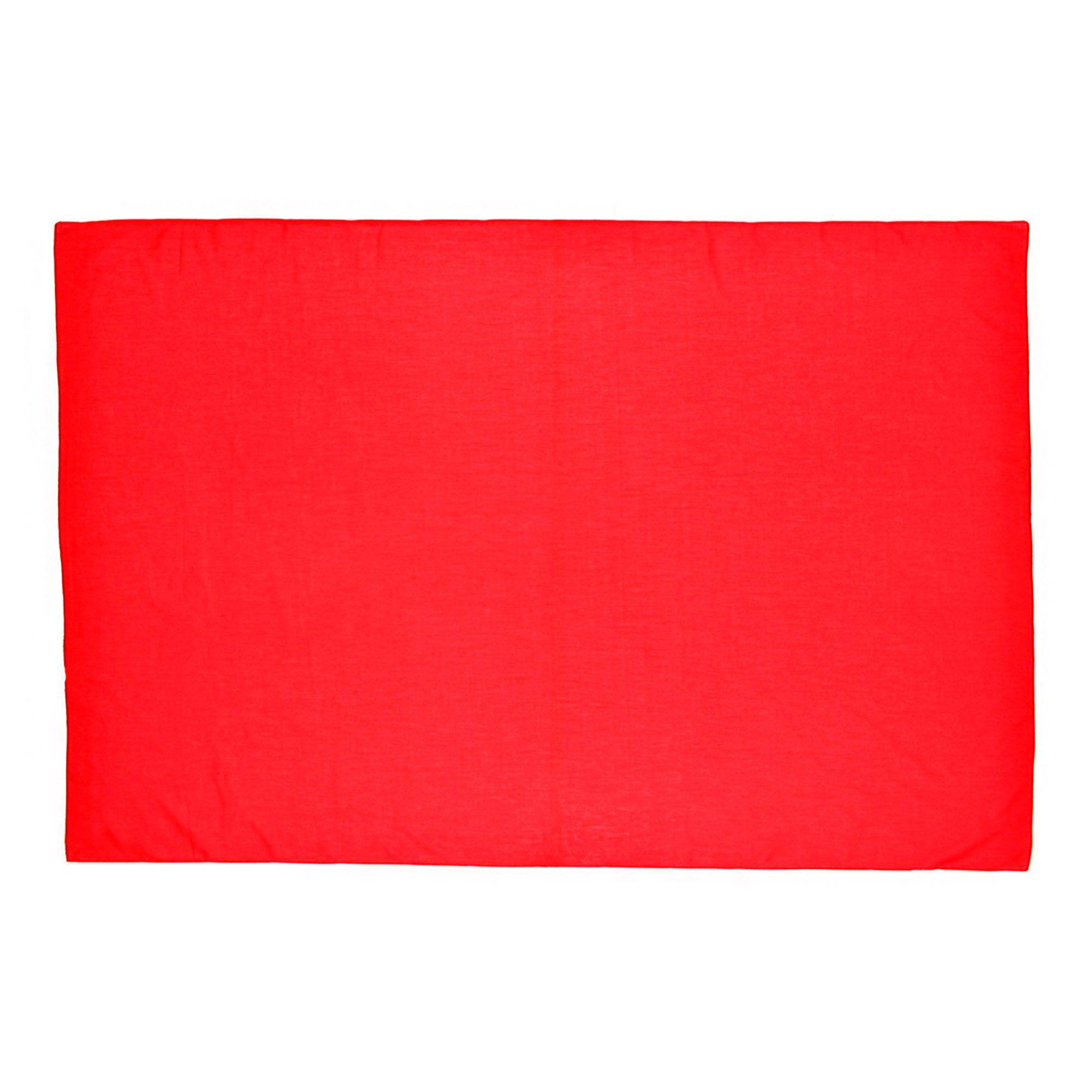 Canga Lisa Sem Franja Vermelha