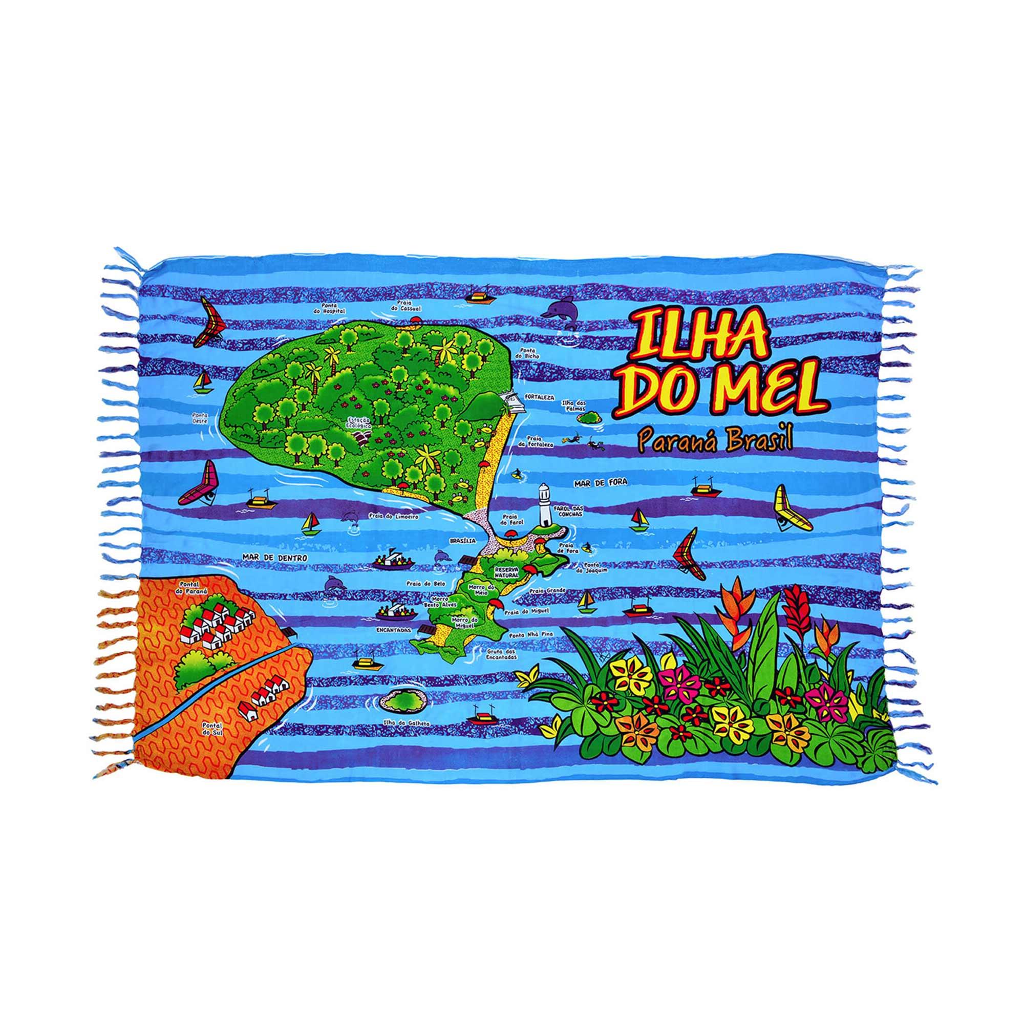 Canga Mapa Ilha Do Mel