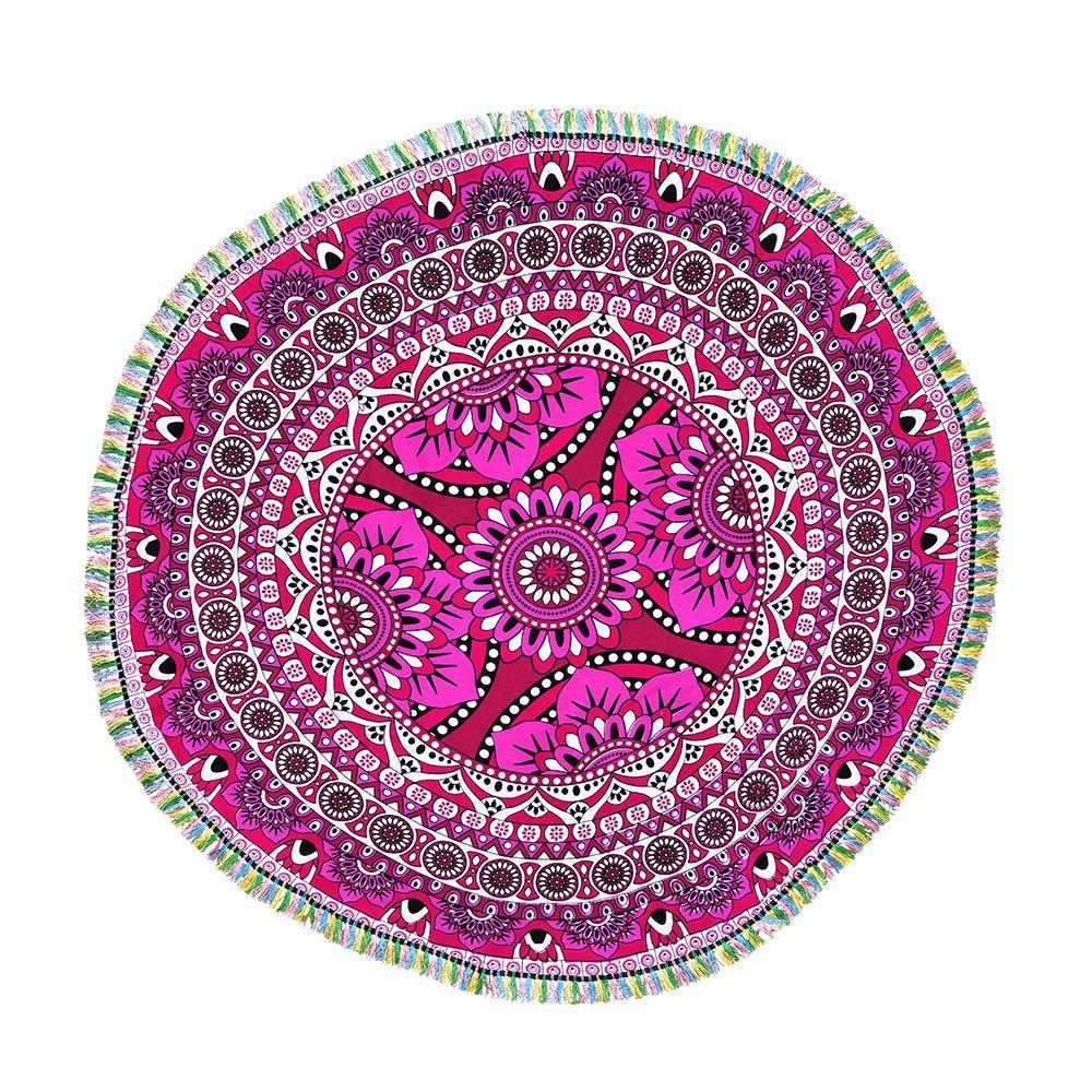 Canga Mini Mandala Floral Com Tassel
