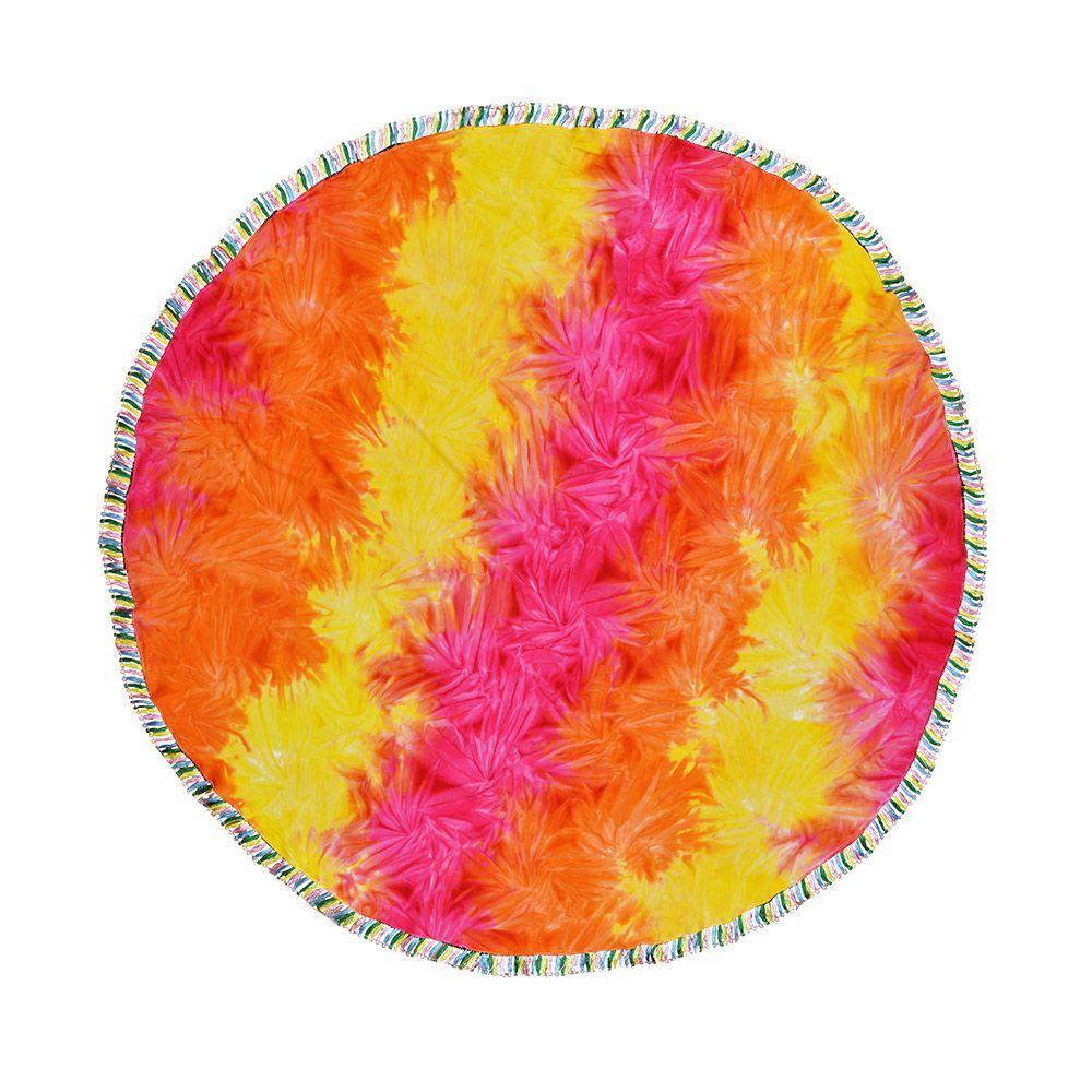 Canga Mini Redonda Tie Dye Com Tassel