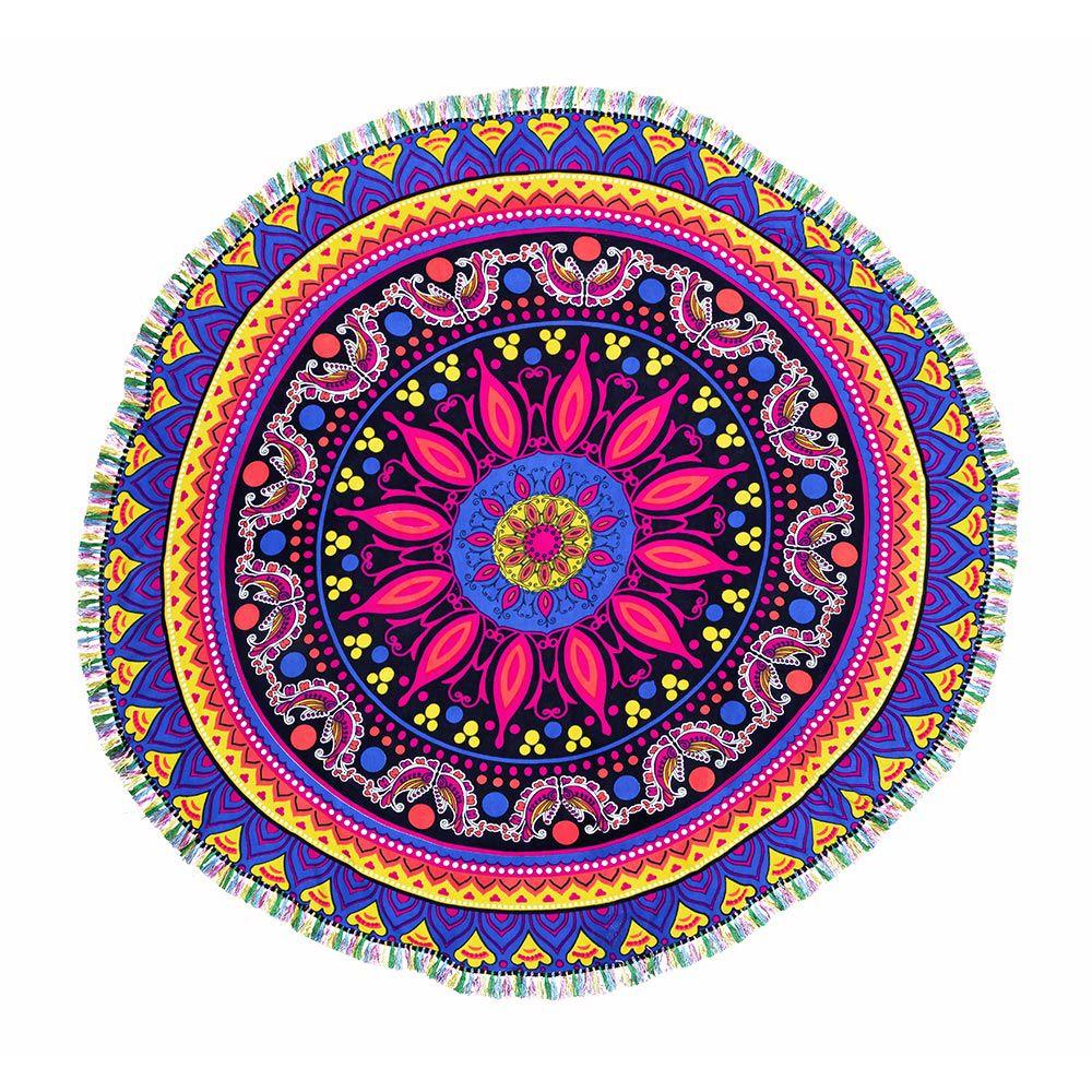 Canga Redonda Mandala Acqua Com Tassel