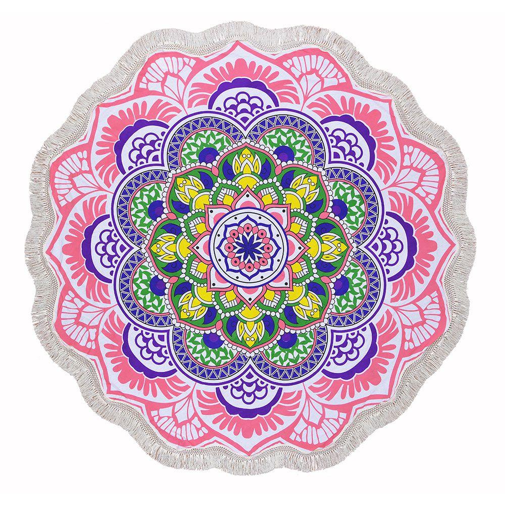 Canga Redonda Mandala Colors com Tassel