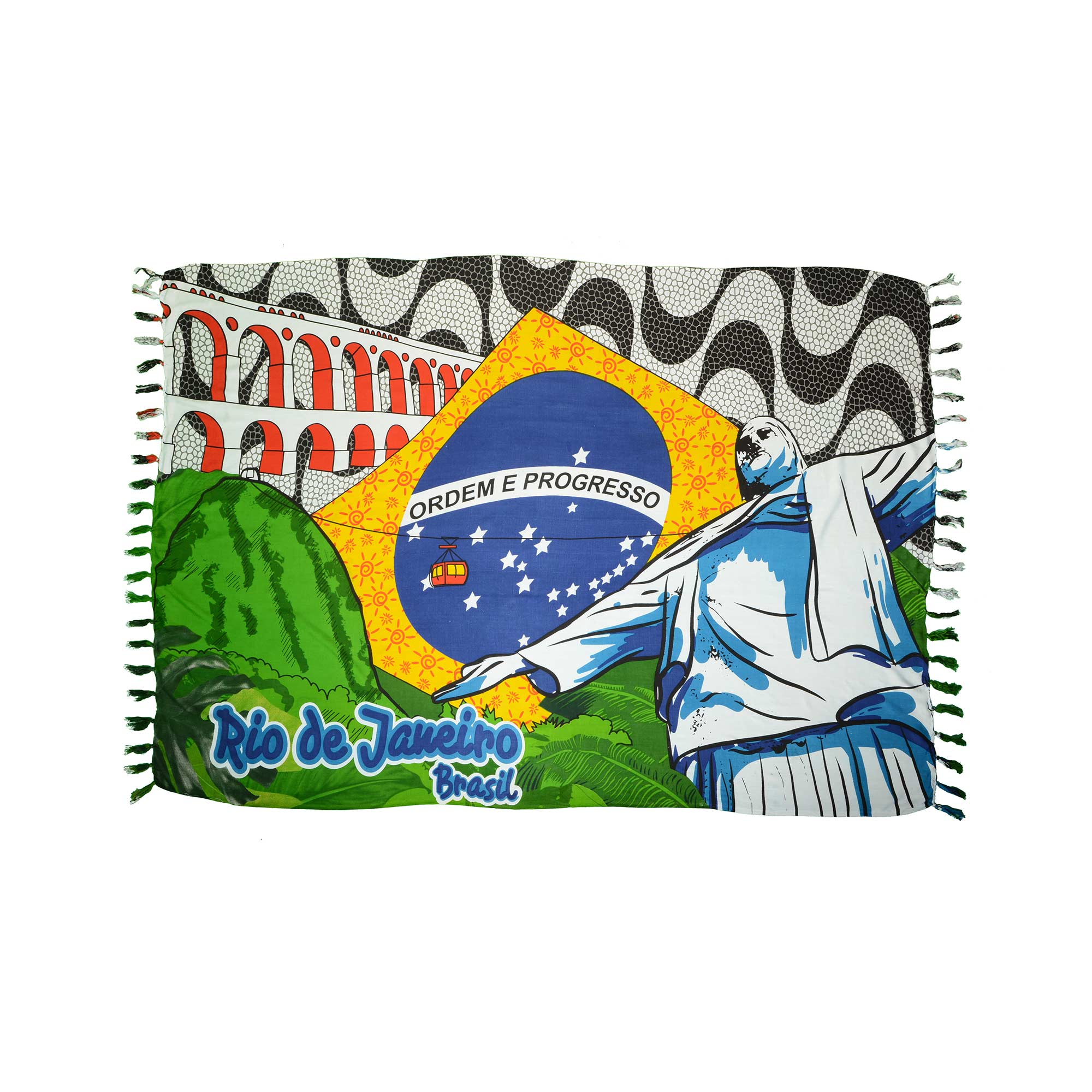 Canga Rio de Janeiro Bandeira do Brasil