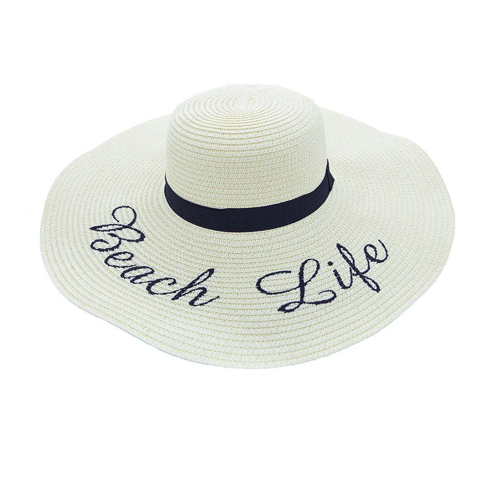 Chapéu De Praia Com Beach Life