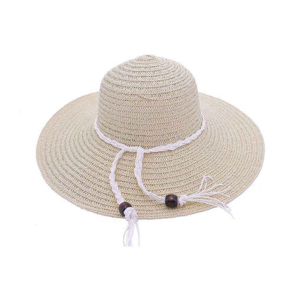 Chapéu De Praia Com Cordão Com Detalhes Em Couro II