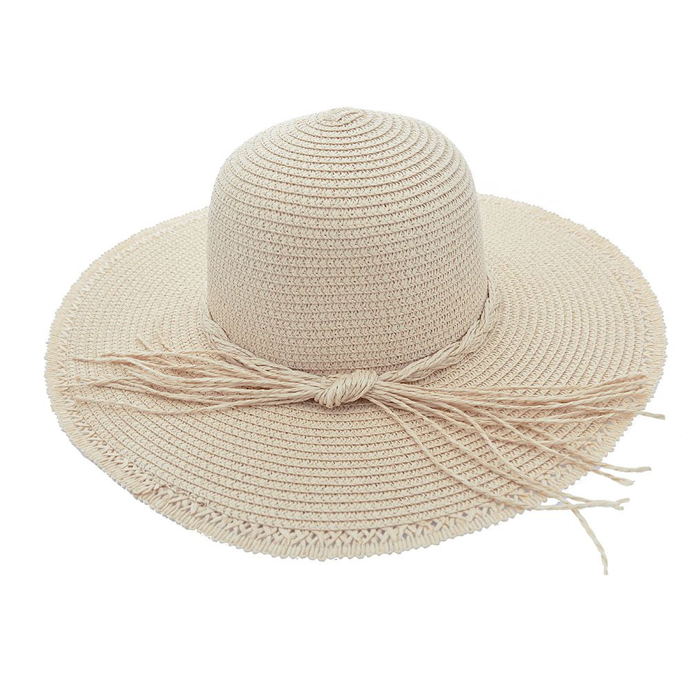 Chapéu De Praia Com Cordão Trançado