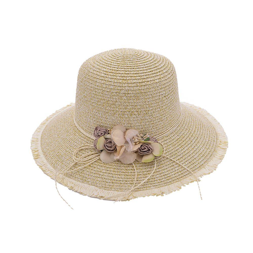 Chapéu De Praia Com Flores
