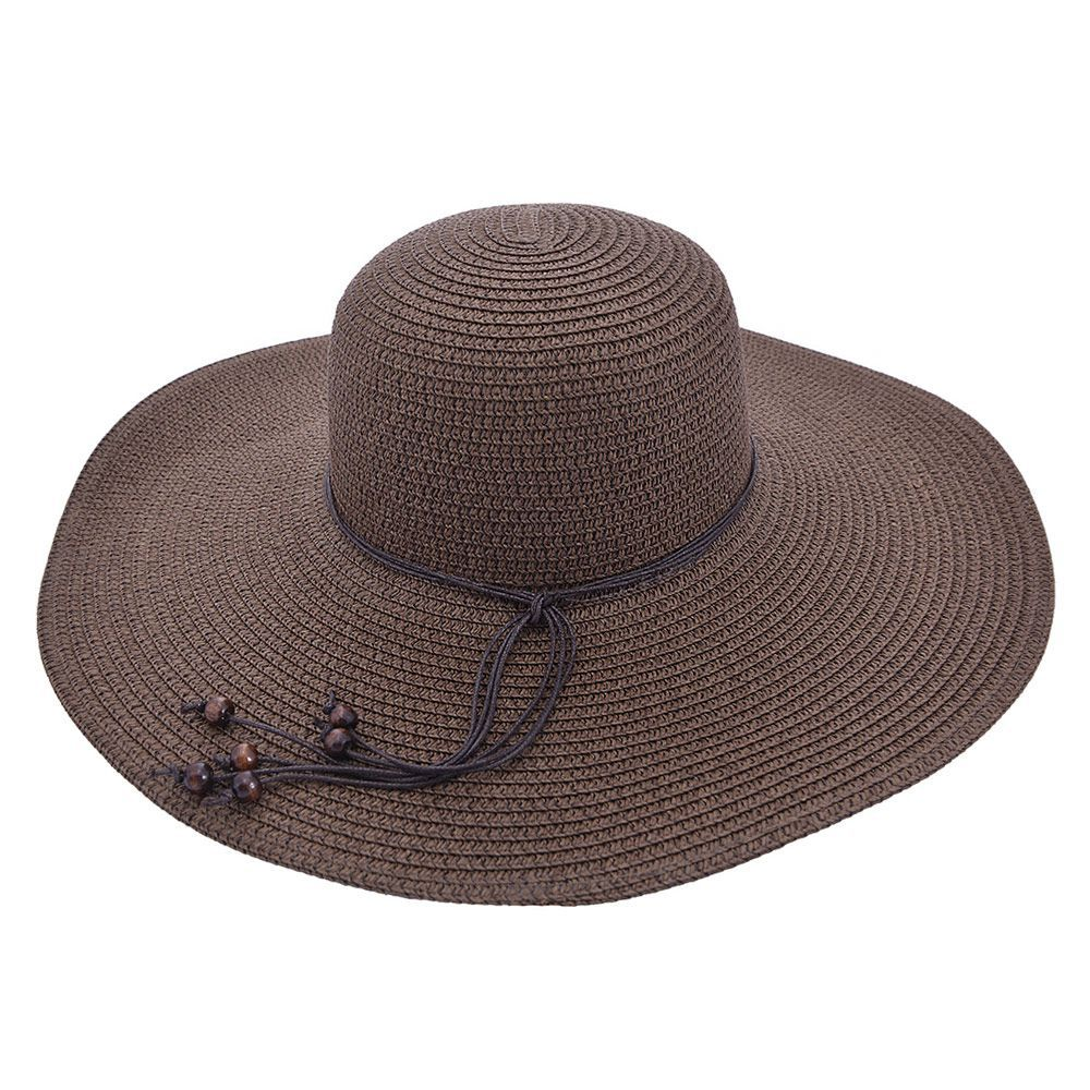 Chapéu De Praia Cordão Com Bolinhas