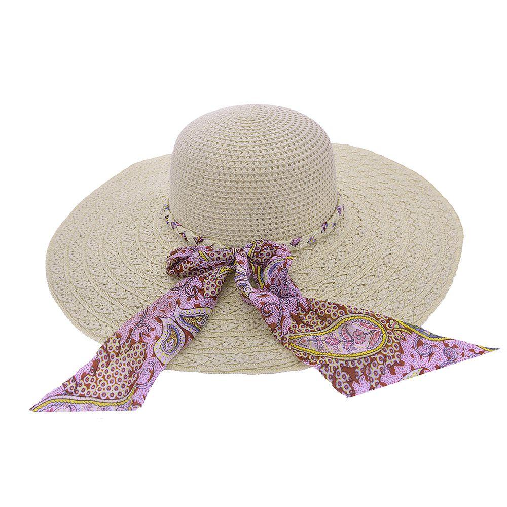 Chapéu De Praia Laço de Tecido