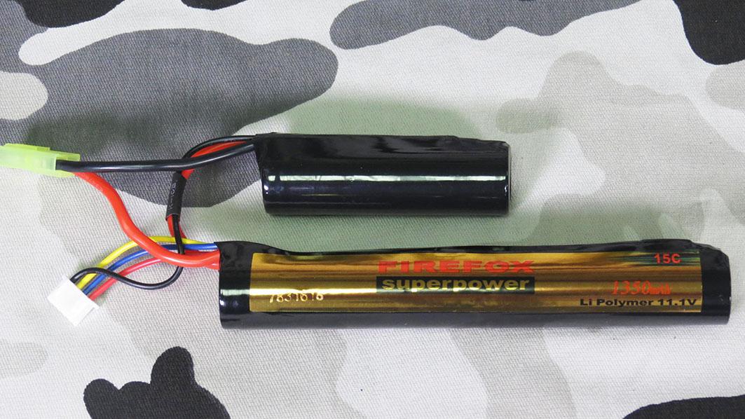 Bateria Li-Po FireFox 11.1V 15C - 1350 mAh (2 tubetes)