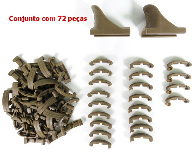 Protetor de RIS LaRue 72 peças - Cor: TAN