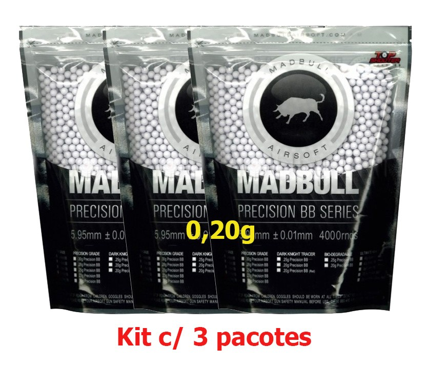Kit c/ 3pct - BB 0,20g Madbull