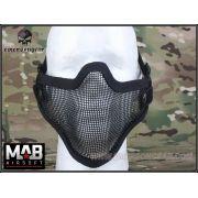 Meia Máscara de Proteção c/ Tela Metálica (Boca/ Nariz) - Cor PRETA