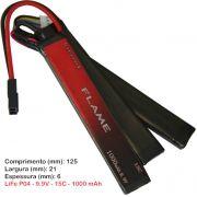 Bateria Li-Fe Flame 9.9V 15C - 1000 mAh (3 tabletes)
