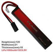 Bateria Li-Fe Flame 9.9V - 15C - 1000 mAh  (1 tabletes)
