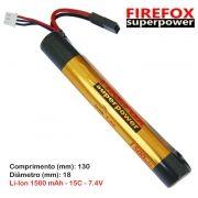 Bateria Li-Ion Firefox 7.4V - 15C - 1500 mAh (1 tubete)