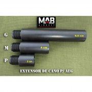Extensor de Cano p/ AEG - Tamanho (M) - rosca Esquerda/ Esquerda