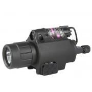 Lanterna para Pistola c/ Laser (c Rabicho)