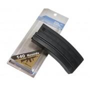Magazine Plástico SRC Mid-cap M4/M16 140 BBs (Cor: Preta) #