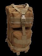 Mochila Tatica Militar WSH Sistema MOLLE Cordura 600D capacidade 45 L - Cor: TAN
