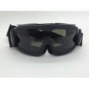 Óculos / Goggle Anti-Fogging 3 lentes - Cor: Preta #