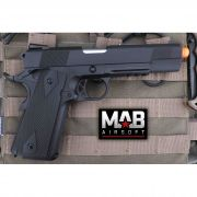 Pistola Airsoft WE 1911 Gen. 2 GBB Full Metal Preta - Calibre 6 mm