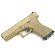 Pistola Airsoft WE Glock G17 Gen 3 GBB Metal e Polimero TAN/TAN - Calibre 6 mm #