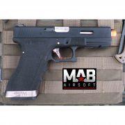 Pistola Airsoft WE Glock G17 T5 GBB Metal e Polimero Preta - Calibre 6 mm