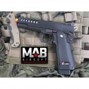 Pistola Airsoft WE Hi-Capa 5.1 K1 Lightened GBB Full Metal Preta - Calibre 6 mm