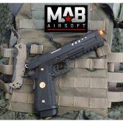 Pistola Airsoft WE Hi-Capa 5.2 K GBB Full Metal Preta - Calibre 6 mm