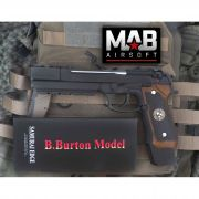 Pistola Airsoft WE M92 Bioharzard Extend Black B.Burton - Calibre 6 mm