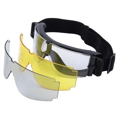 Óculos Tático - Goggle X800 c/ 3 lentes