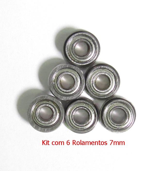 Kit com 6 Rolamentos 7mm  - MAB AIRSOFT
