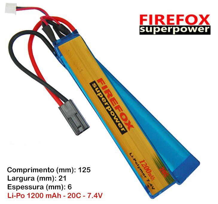 Bateria Li-Po FireFox 7.4V 20C - 1200 mAh (azul)