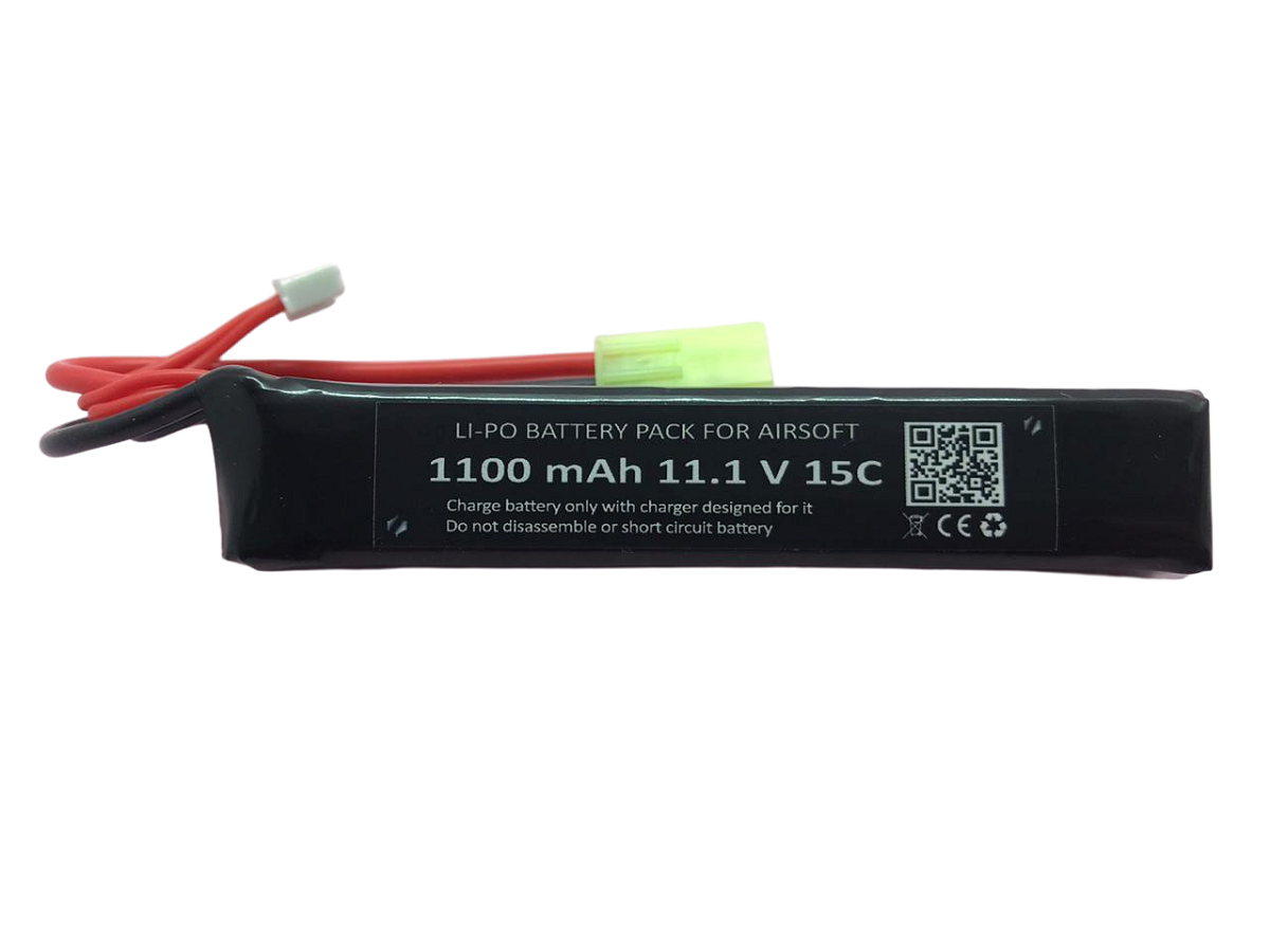 Bateria Lipo SMP 11.1V - 15C - 1100 mAh (1 tablete) #  - MAB AIRSOFT