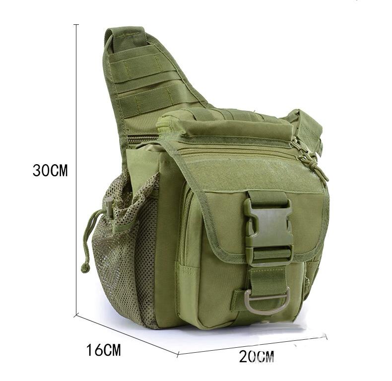 Bolsa Tática Militar Transversal - Cor: Verde  - MAB AIRSOFT
